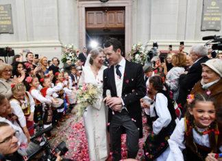 Венчание принца Сербии Филипа и Даницы Маринкович