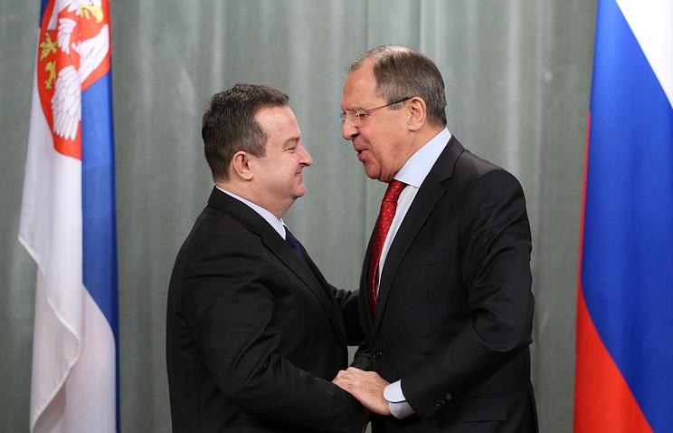 Сергей Лавров и Ивица Дачич