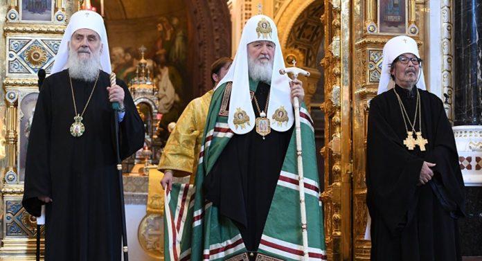 Патриарх Кирилл и патриарх Ириней