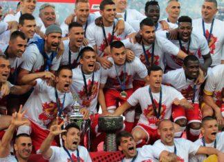 Празднование Црвеной Звездой чемпионского титула