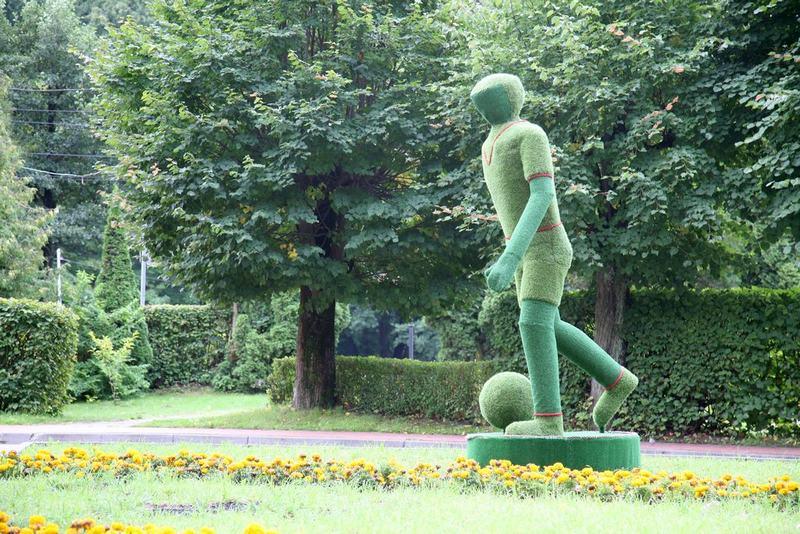 Футболист в Светлогорске