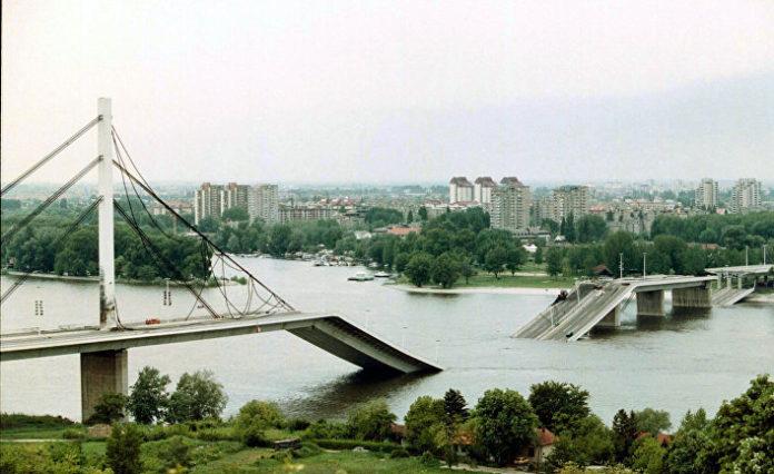 Нови Сад. Результат бомбардировок. Югославия. 1999