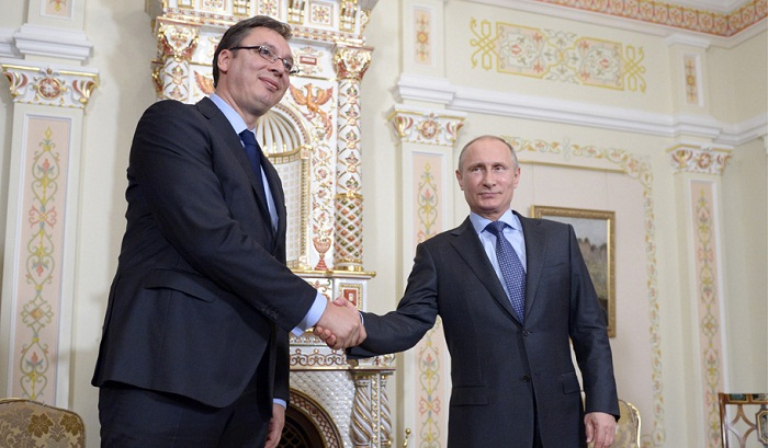 Александар Вучич и Владимир Владимирович Путин