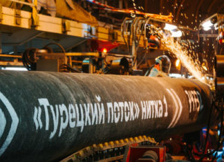 Газопровод «Турецкий поток» построили на 66%