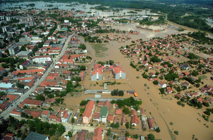 Наводнения в Сербии - Обреновац