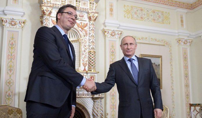 Александар Вучич и Владимир Путин