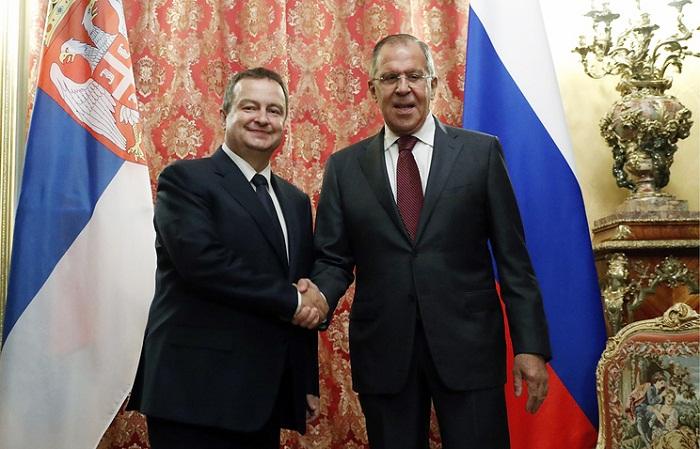 Ивица Дачич и Сергей Лавров
