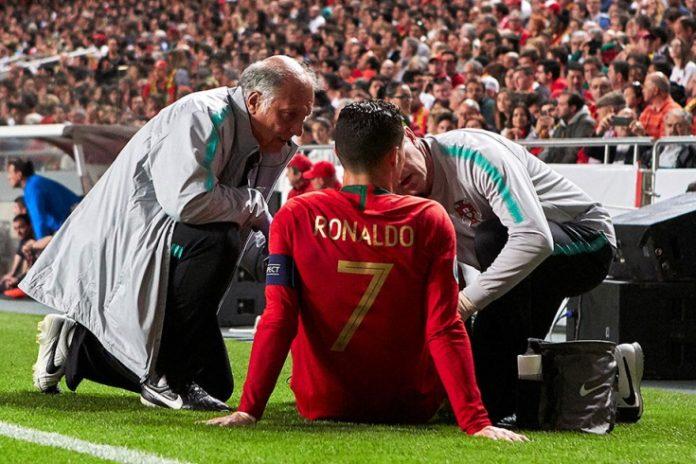 Португалия - Сербия. Роналду получает травму и покидает поле