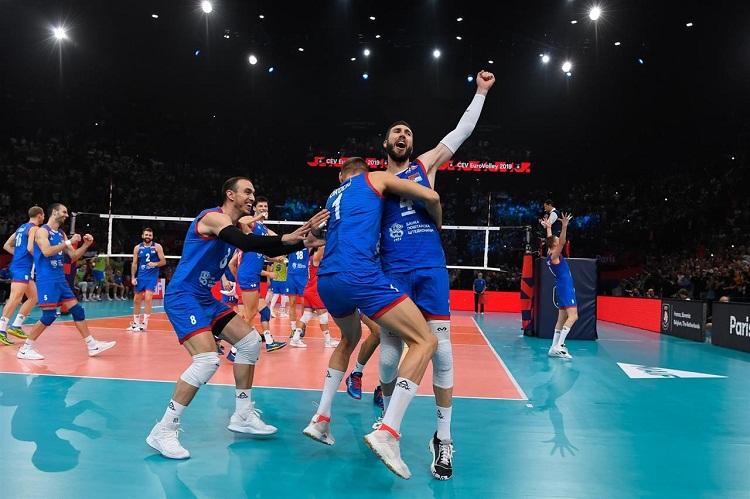 Сербия - Словения - Чемпионат Европы 19-25, 25-16, 25-18, 25-20 ©EuroVolley