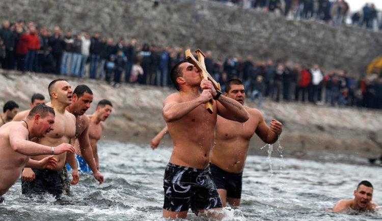 Праздник Крещения Господня или Богоявления в Сербии