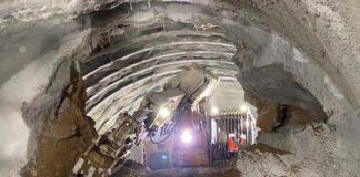 Сбойка части правого тоннеля выполнена в первом тоннеле, который прокладывают в Сербии российские метростроевцы.