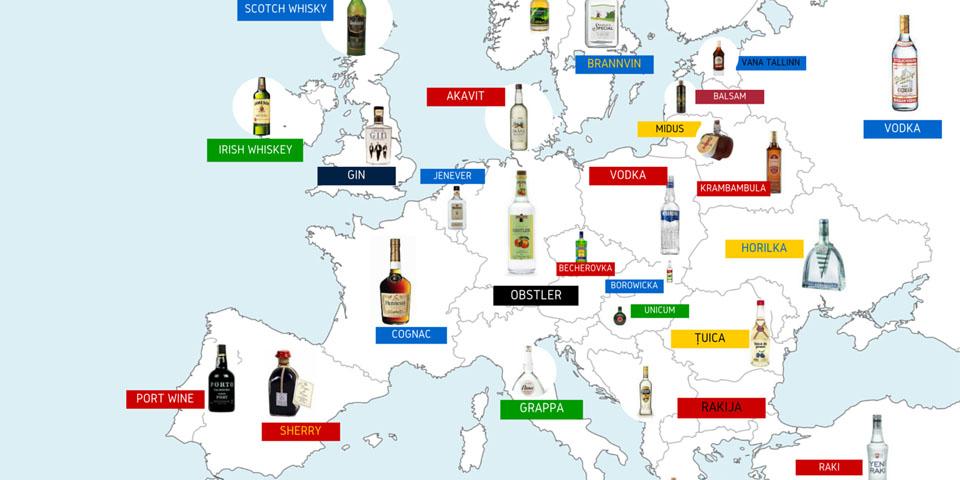 Национальные напитки Европе