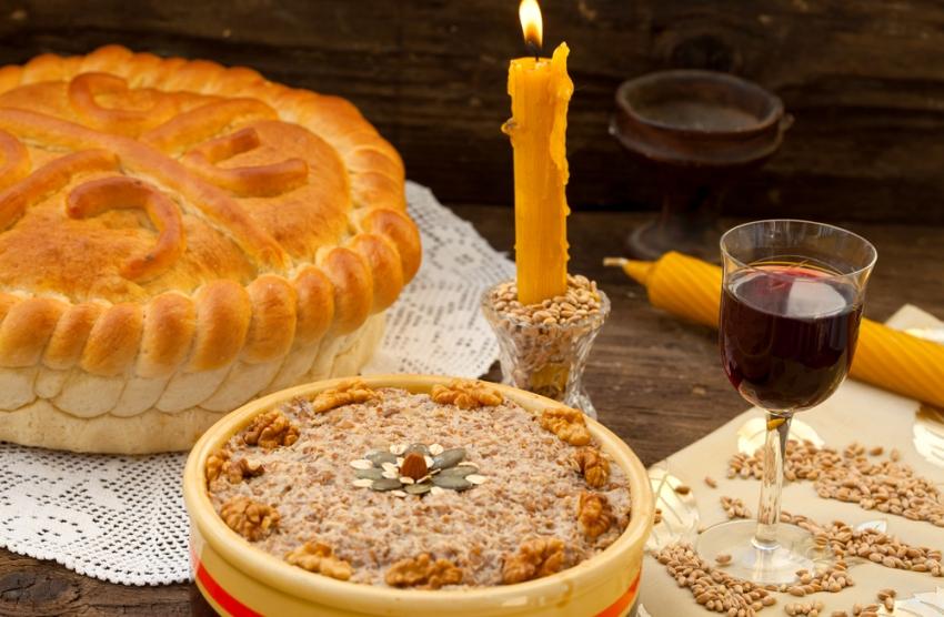 Сербская Слава - славский хлеб, жито и вино