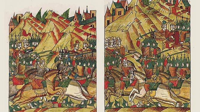Изображение Косовской битве из 16 века