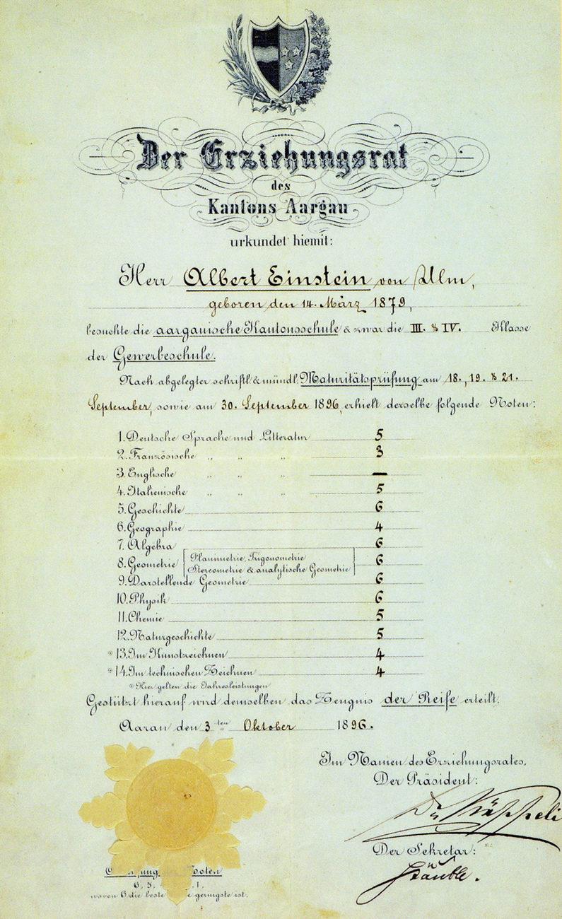 Диплом Альберта Эйнштейна