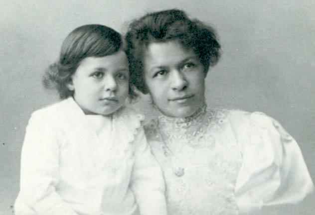 Милева Марич с сыном Гансом-Альбертом