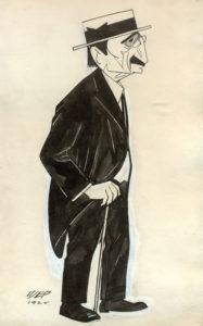Карикатура Бранислава Нушича - Пьер Крижанич