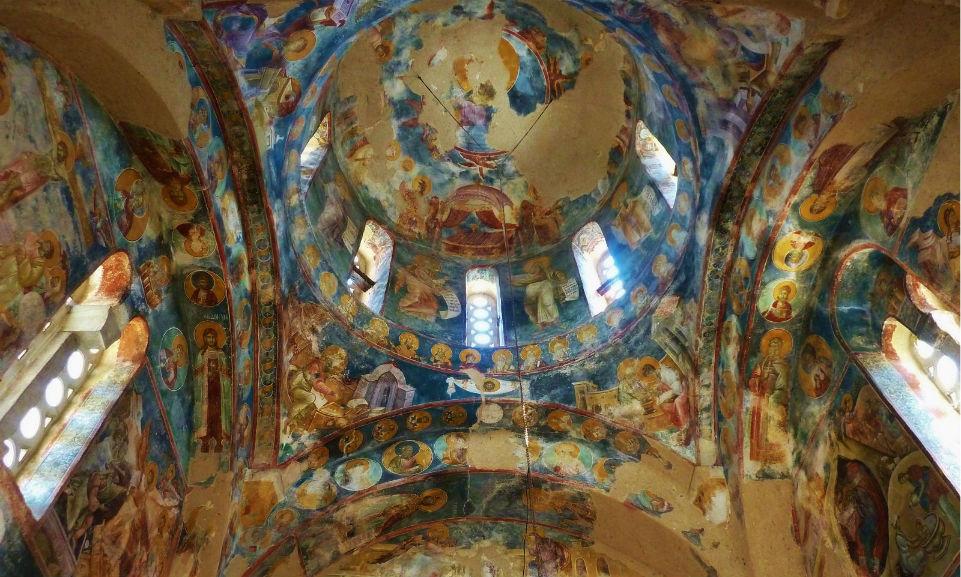 Купольные фрески монастиря Студеница