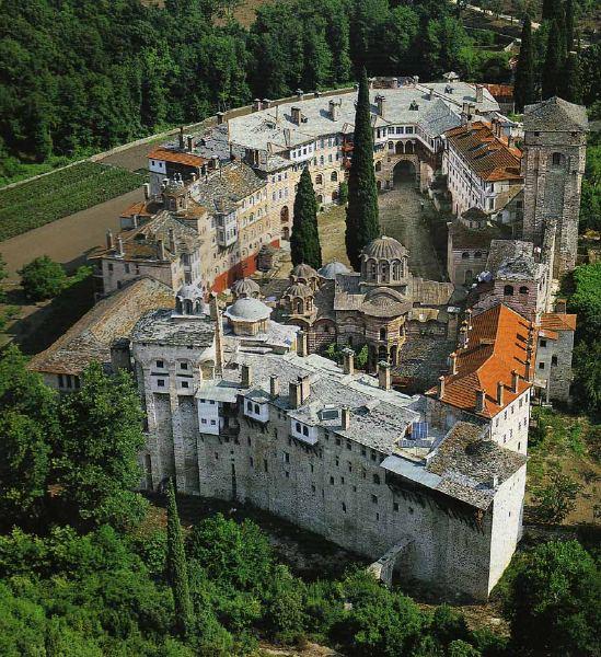 Монастырь Хиландар на Святой Горе Афон
