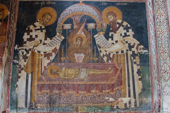 Фреска монастиря Высокие Дечаны